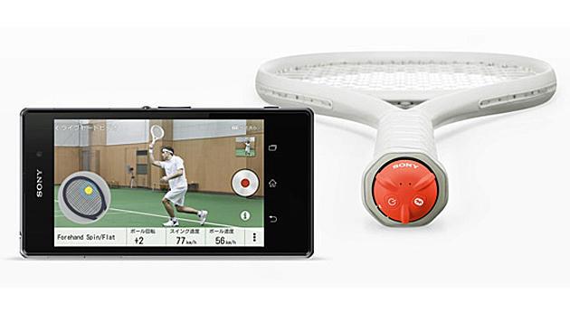 Sony-Tennissensor soll Schlagtechnik verbessern (Bild: Sony)