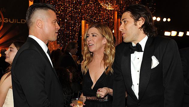 Haare ab: Brad Pitt trägt neuerdings Undercut (Bild: AP)