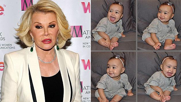 Joan Rivers: Böse Lästerattacke gegen Kims Tochter (Bild: AP, Instagram)