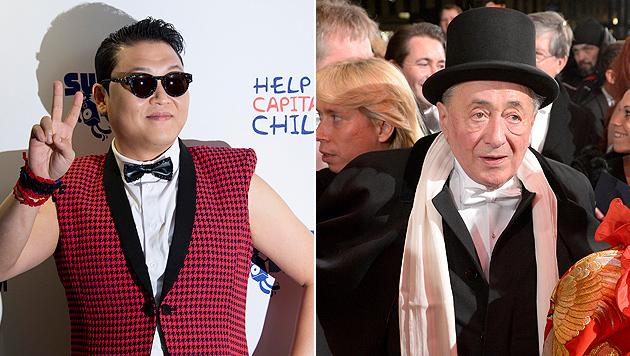 """Opernball: Richard Lugner soll mit Psy """"antanzen"""" (Bild: AP, APA/ROLAND SCHLAGER)"""