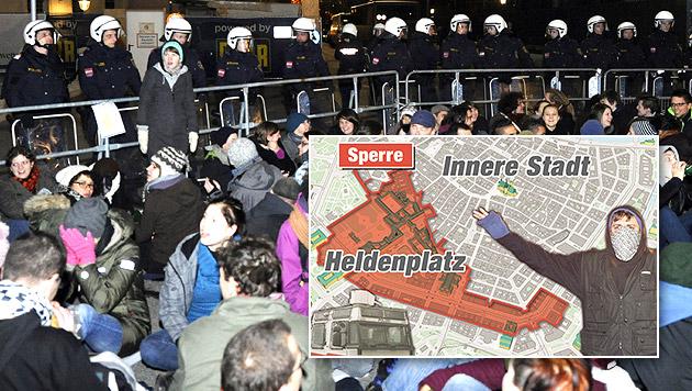 2.000 Beamte rüsten sich für Demos und Proteste (Bild: APA/HERBERT P. OCZERET (Symbolbild), Krone-Grafik)