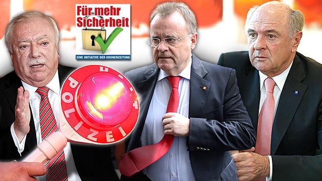 Kampf gegen Kriminalität muss Vorrang haben (Bild: Peter Tomschi, Reinhard Holl, APA/HELMUT FOHRINGER)