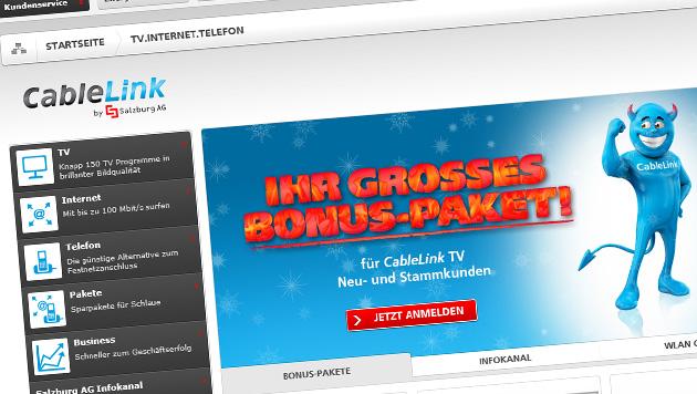 Hackerangriff auf Internetdienst der Salzburg AG (Bild: cablelink.at)