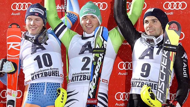 "Neureuther gewinnt den Slalom-Klassiker in ""Kitz"" (Bild: APA/EPA/HANS KLAUS TECHT)"