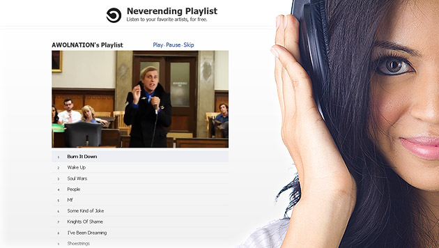 """Neverending Playlist"" bietet Musik ohne Ende (Bild: thinkstockphotos.de, neverendingplaylist.com, krone.at-Grafik)"