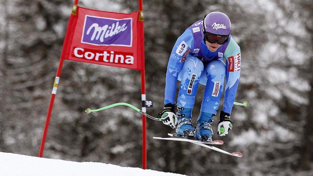Slowenin Tina Maze siegt, Fenninger wird Fünfte (Bild: EPA)