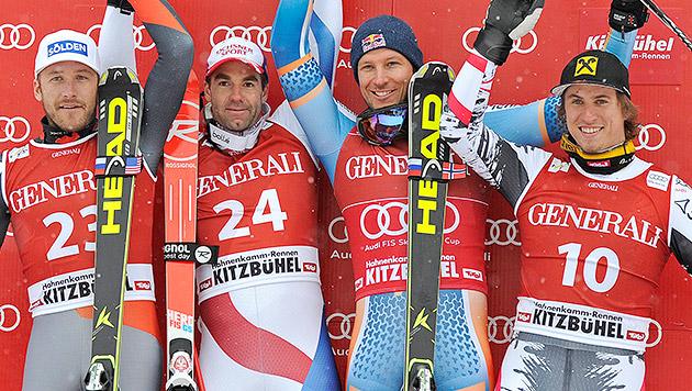Schweizer Defago gewinnt vor Miller und Max Franz (Bild: APA/EPA/ROBERT PARIGGER)