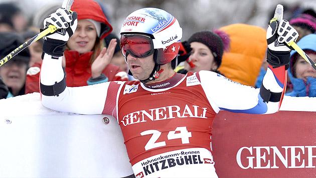 Schweizer Defago gewinnt vor Miller und Max Franz (Bild: APA/EPA/HERBERT NEUBAUER)