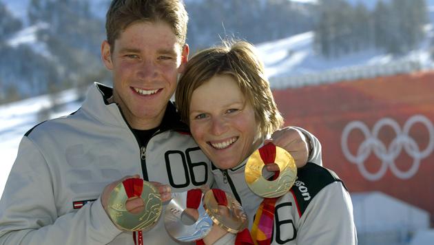 Marlies Schild und Benjamin Raich haben geheiratet (Bild: Christof Birbaumer)