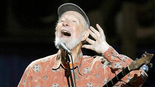 Folk-Legende Pete Seeger 94-jährig verstorben (Bild: AFP)