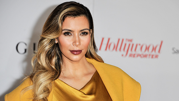 "Kim Kardashian twittert: ""Bin schon so aufgeregt!"" (Bild: AP)"