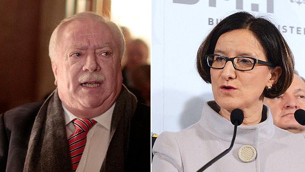 Kritik von Häupl - Ministerin stärkt Pürstl Rücken (Bild: APA/Helmut Fohringer, APA/Georg Hochmuth)