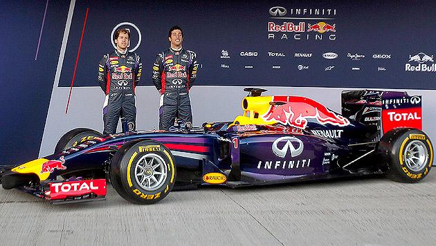 So sieht der neue Bolide von Red Bull aus (Bild: AP, krone.at-Grafik)