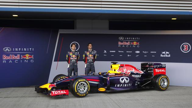 So sieht der neue Bolide von Red Bull aus (Bild: Miguel Angel Morenatti)