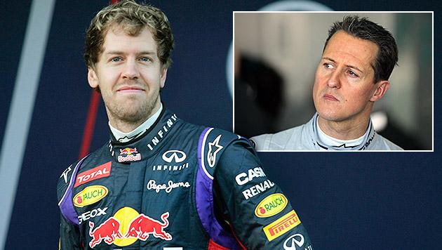 """Vettel über Schumacher: """"Man betet für ein Wunder"""" (Bild: AP, dpa)"""
