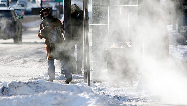 Region in Russland friert bei minus 50 Grad (Bild: Associated Press (Symbolbild))