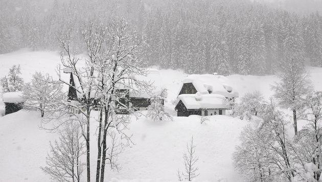 Große Mengen Neuschnee in Südösterreich erwartet (Bild: APA/GALLHOFER)