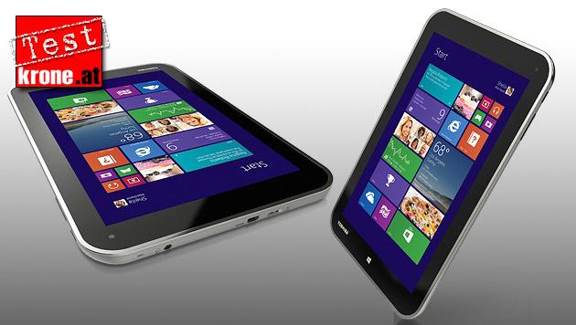 Tablet-Winzling mit vollwertigem Windows 8 im Test (Bild: toshiba.com, krone.at-Grafik)