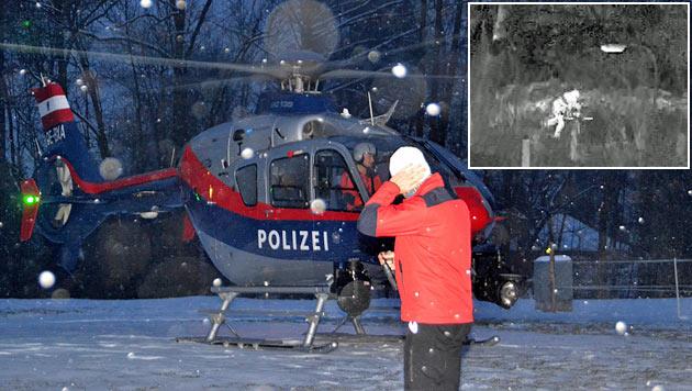 Vermisster Pensionist von Wärmebildkamera geortet (Bild: BMI, Einsatzdoku.at)