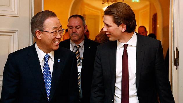 "Ban ""ermuntert"" Kurz zur Beteiligung an EU-Mission (Bild: APA/Dragan Tatic)"
