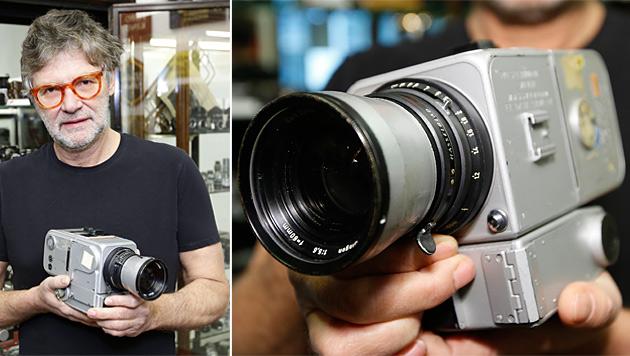 """Letzte """"Apollo""""-Kamera in Wien unterm Hammer (Bild: AFP, krone.at-Grafik)"""