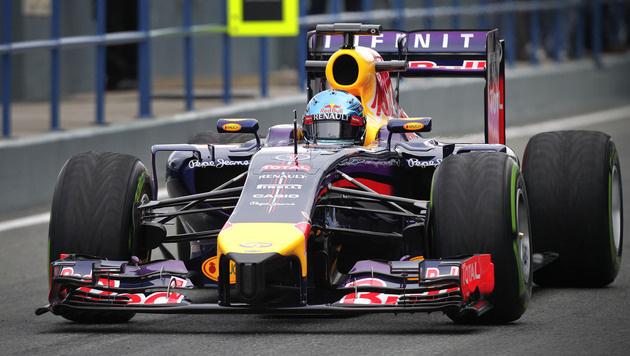 Red Bull auch am dritten Testtag mit Problemen (Bild: AP)