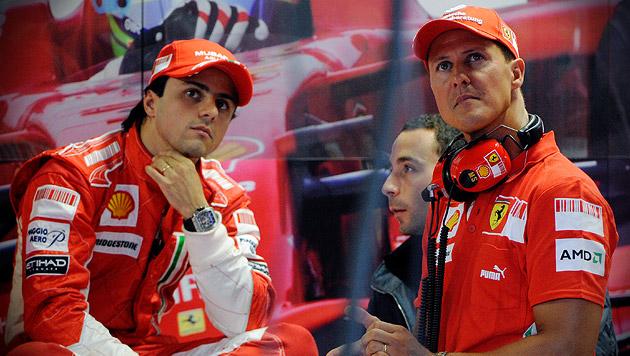 """Massa: """"Schumachers Fitness ein großer Vorteil"""" (Bild: DANILE DAL ZENNARO/EPA/picturedesk.com)"""