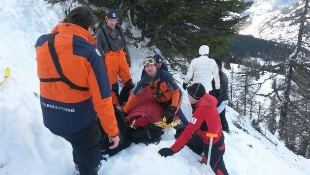 2 Tourengeher von Lawine erfasst - schwer verletzt (Bild: Bergrettung Großarl/Hannes Saugspier)