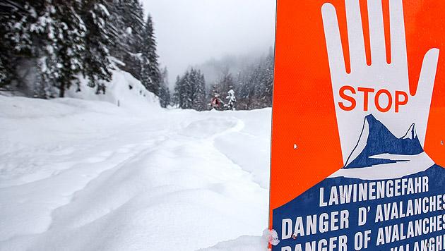 Lawinengefahr erreicht in Teilen Tirols Stufe 4 (Bild: APA/EXPA/JFK)