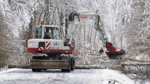 Winterwetter fordert steirische Einsatzkräfte (Bild: APA/FEUERWEHR/STED/C. KARNER)