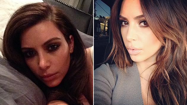 Kim Kardashian zwängt sich in superknappen Bikini (Bild: Instagram)