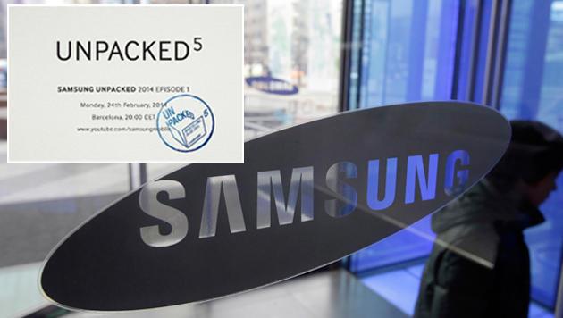 Samsung enthüllt das Galaxy S5 am 24. Februar (Bild: AP, Samsung, krone.at-Grafik)