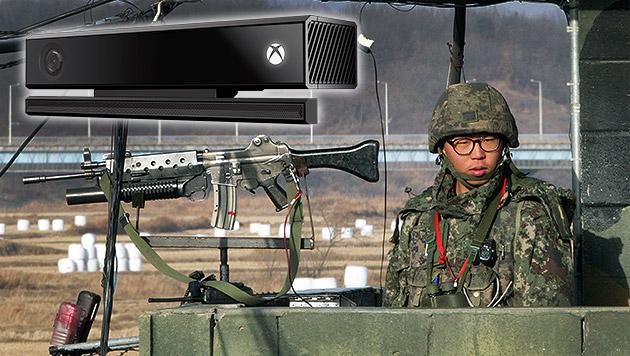 Südkorea überwacht Nordgrenze mit Kinect-Kameras (Bild: AP, Microsoft, krone.at-Grafik)