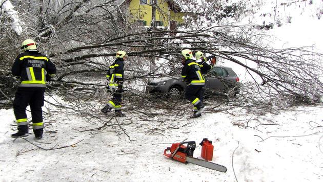 """Einsätze gegen Stromausfälle """"unter Lebensgefahr"""" (Bild: APA/LMDF MARTIN FÜRNSCHUSS/FF ST)"""