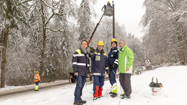"""Einsätze gegen Stromausfälle """"unter Lebensgefahr"""" (Bild: Energie Steiermark)"""