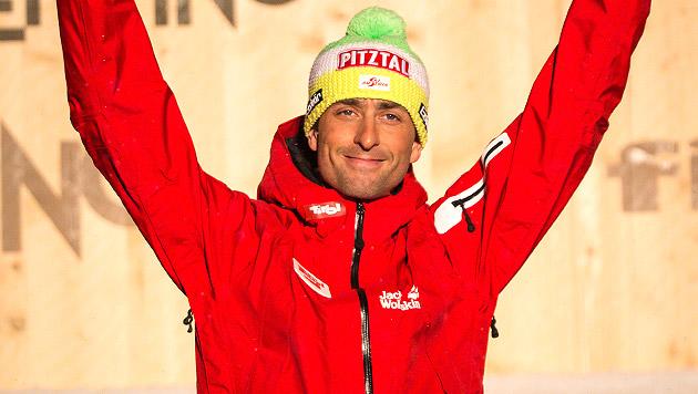 Mario Stecher Österreichs Fahnenträger in Sotschi (Bild: APA/EXPA/JÜRGEN FEICHTER, krone.at-Grafik)