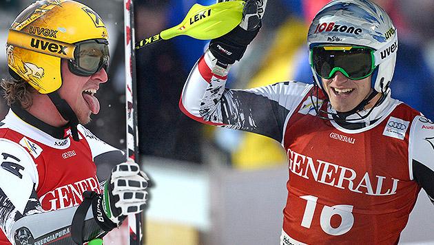Max Franz und Matthias Mayer Fixstarter (Bild: AP, APA/Robert Parigger, krone.at-Grafik)