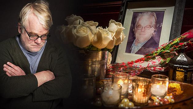 Vier Festnahmen im Fall Philip Seymour Hoffman (Bild: APA/EPA/GARY HE, VICTORIA WILL/INVISION/AP, krone.at-Grafik)