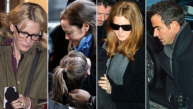 Hollywoodstars bei Totenwache für Hoffman (Bild: AFP)