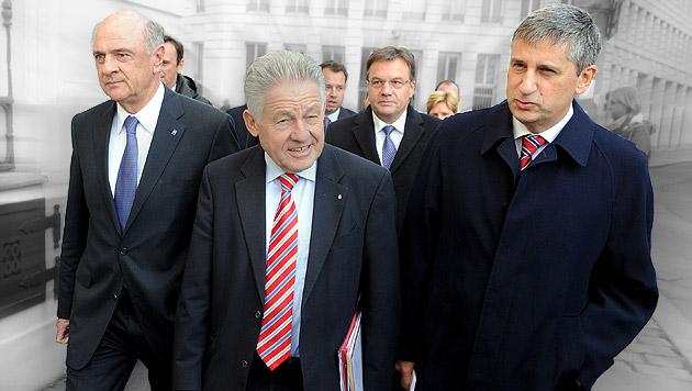 ÖVP-Länderchefs fordern eigene Steuern (Bild: APA/HERBERT PFARRHOFER, krone.at-Grafik)