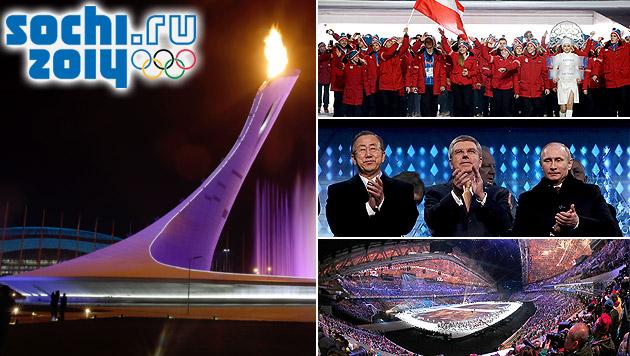 Olympische Spiele in Sotschi feierlich eröffnet (Bild: AP, APA/EPA/HOW HWEE YOUNG, APA/EPA/ANATOLY MALTSEV)