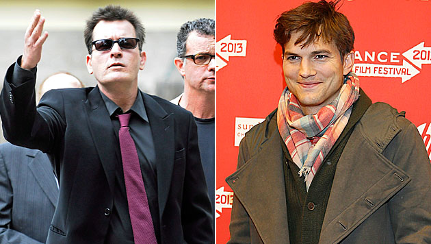 Sheen zieht Entschuldigung an Kutcher zurück (Bild: RICK GIASE/EPA/picturedesk.com, GEORGE FREY/EPA/picturedesk.com)