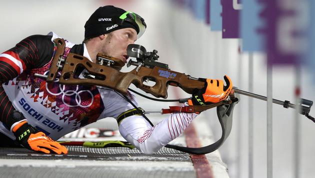 Biathlet Landertinger holt Silber für Österreich (Bild: AP)