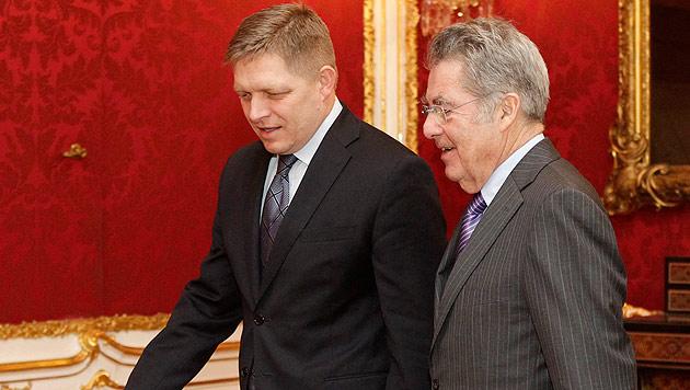 """Slowakischer Premier: """"Möchte wie Fischer sein"""" (Bild: APA/Bundesheer/Peter Lechner)"""