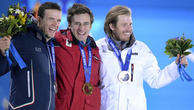 """""""Coole Geschichte!"""" Mayer hat seine Goldmedaille (Bild: APA/HANS KLAUS TECHT)"""
