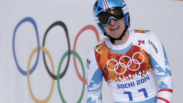 GOLD! Matthias Mayer triumphiert in der Abfahrt (Bild: AP)