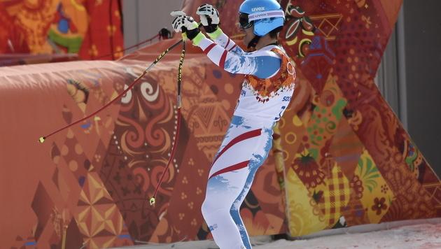 GOLD! Matthias Mayer triumphiert in der Abfahrt (Bild: APA/EPA/JOHN G. MABANGLO)