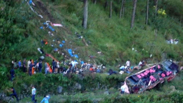 Österreicher überlebt Busunglück auf Philippinen (Bild: APA/EPA/PHILIPPINE INFORMATION AGENCY)
