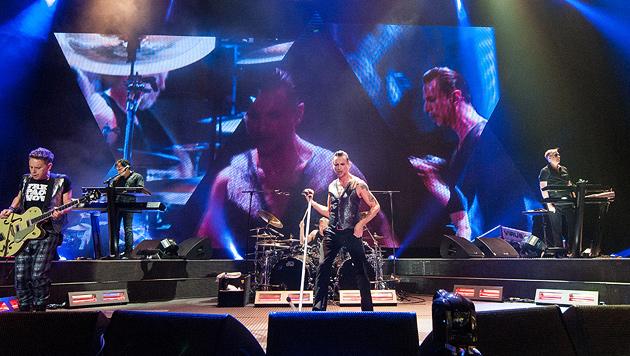Volksfeststimmung bei Pop-Legenden Depeche Mode (Bild: Andreas Graf)