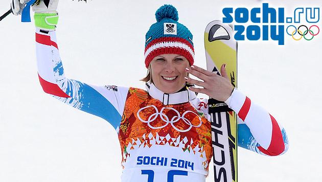 Niki Hosp holt erste Medaille für unsere Damen (Bild: APA/HANS KLAUS TECHT, sochi2014.com)